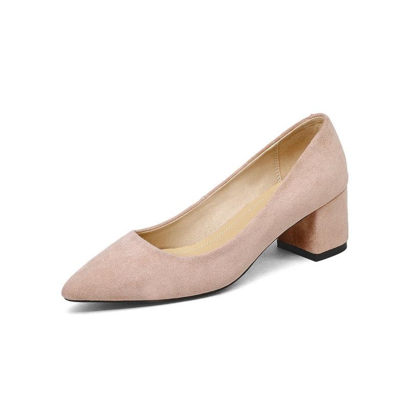 gris En Mariage Concise New Femmes Hauts De Beige Talons Pompes Cuir Chaussures noir rose Robe Véritable Femme 2018 hrsCxQdt