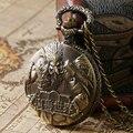 Урожай Стимпанк Бронзовый Прохладный Удивительный Мир warcraft Кварцевые Карманные Часы Мужчины Ожерелье Кулон с Цепочкой Reloj De Bolsillo
