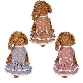 Lovely Spot Pet Cane Vestito Abiti Per Cani di Piccola Taglia Estate Chihuahua Pug Yorkshire Vestiti del Cucciolo del Gatto Vestiti Del Cane Abiti Da Sposa