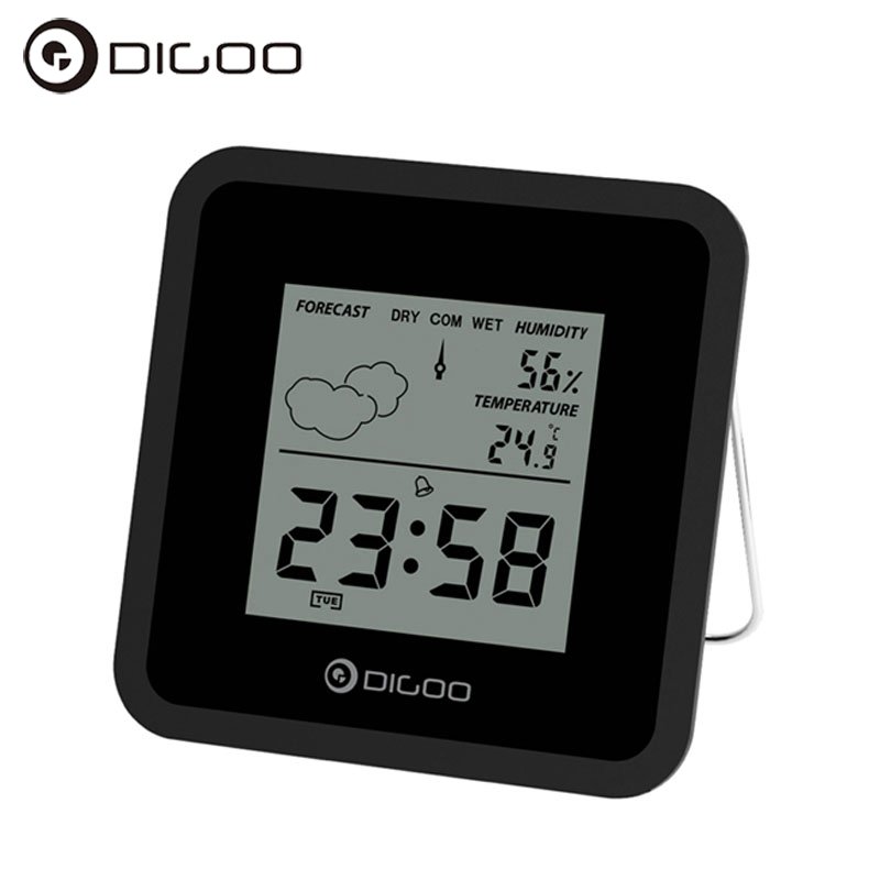 Digoo DG-FC25 Mini Temperature Sensor Almighty Weather Station Hygrometer Thermometer Forecast Sensor Alarm Clock Smart Home все цены