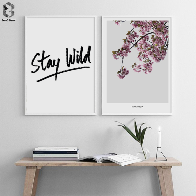 Us 63 28 Offnordic Minimalist Quotes Canvas Art Print Painting Poster Magnolia Flower Wall Pictures For Home Decoration Wall Decor In Painting