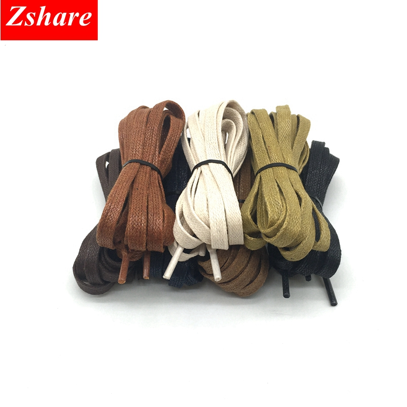 1Pair Waterproof Waxed Shoe Laces Flat Leather ShoeLaces Kids Adult Sneakers Shoelaces Length 60 80 100 120 140 160 180CM P3