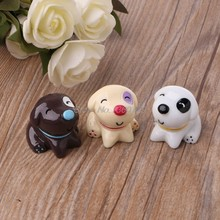 Cute Resin Dog Figure Miniature Ornament Doll Toy Dollhouse Bonsai Decor 3 Color Nov18 Dropship(China)