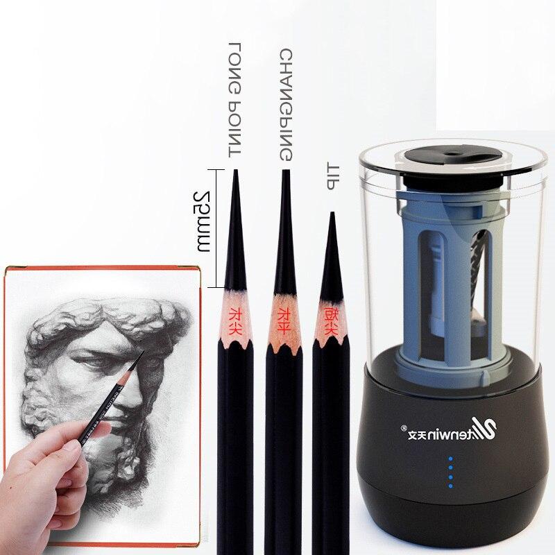 все цены на NEW Electric Dual Purpose Multifunction Automatic Art Learning Sketch Pencil Electronic Sharpener WJ-XXWJ381- Affordable