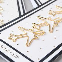 Металлический зажим для бумаги с золотым штифтом закладки хранения