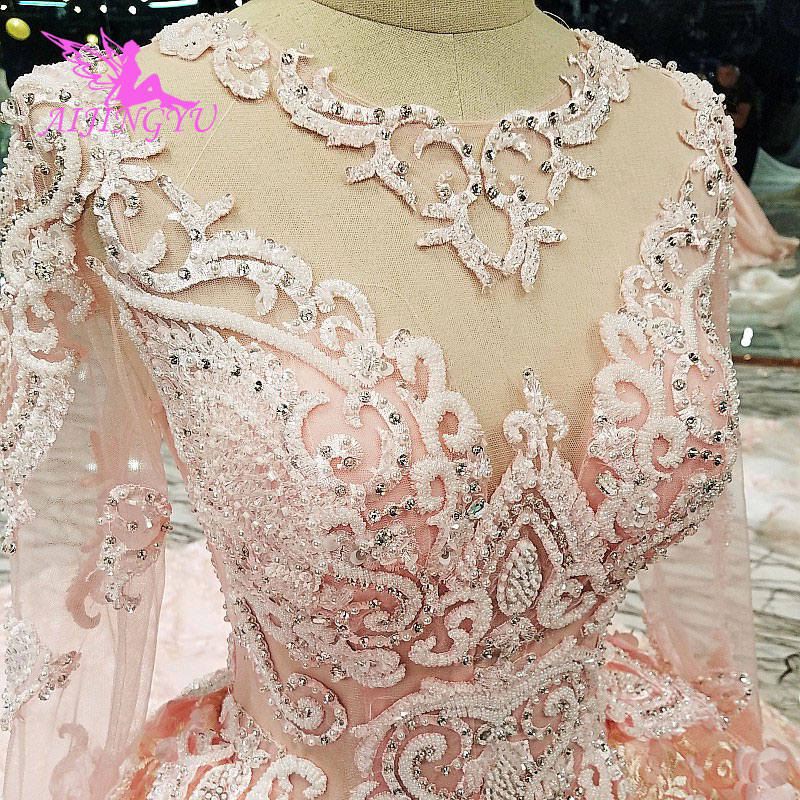 AIJINGYU Weddingdress 2018 robes de mariée vente conception personnalisée Vintage dentelle robe boutique en ligne robes de bal robe de mariée russe