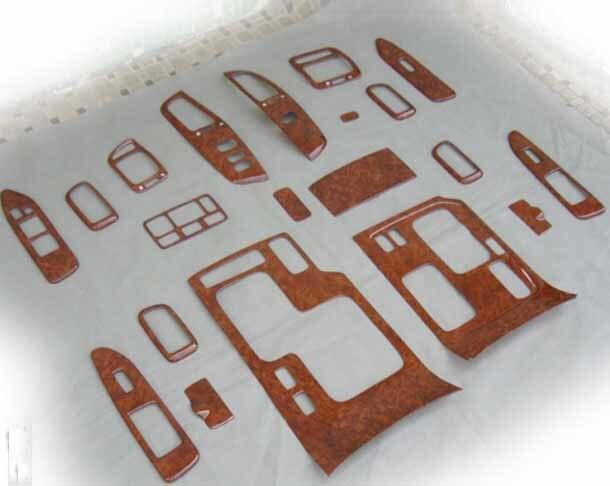 For Toyota Land Cruiser LC100 4500 4700 2003 2007 Wood Interior Trim Special Decorative Frame Stickers
