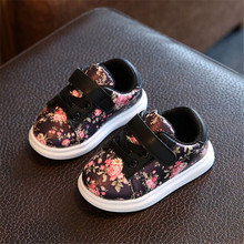 Cute Baby Shoes For Girls Soft Moccasins Shoe 2017 Autumn Pink Flower Baby Girl Sneakers Toddler Girl Newborn Shoes(China)