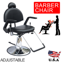 Shellhard Adjustable Reclining Hydraulic Barber Chair Shampoo Spa Beauty Salon Equipment SET