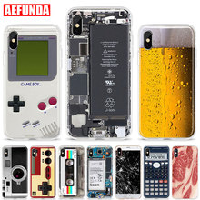 Camouflage Soft TPU Phone Case For iPhone X XS Max XR 7 8 Plus 6 6S 5 5S SE Fundas Beer Gameboy Camera Broken Screen Clear Cover dooley j evans v set sail 4 vocabulary grammar practice сборник лексических и грамматических упражнений
