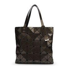 BaoBao Bag Female Folded Geometric Plaid Bag BAO BAO Fashion Casual Tote