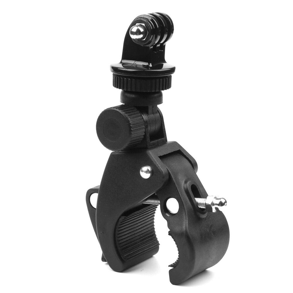Bike Bicycle Motorcycle Handlebar Clamp Mount for Gopro Hero 5 6 4 SJCAM Eken Yi 4K Camera Holder Clip Go Pro Cycling Accessory