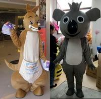 kangaroo Mascot koala Mascot Cartoon Apparel Birthday party Masquerade