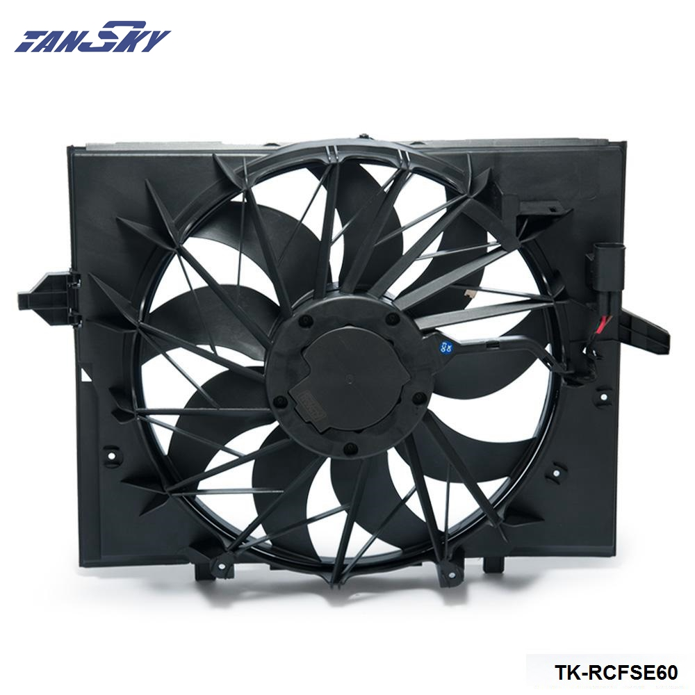 Aliexpress com buy tansky sport radiator cooling fan brushless motor 17427543282 for bmw e60 5 series 525 530 545 645 e65 750 tk rcfse60 from reliable bmw