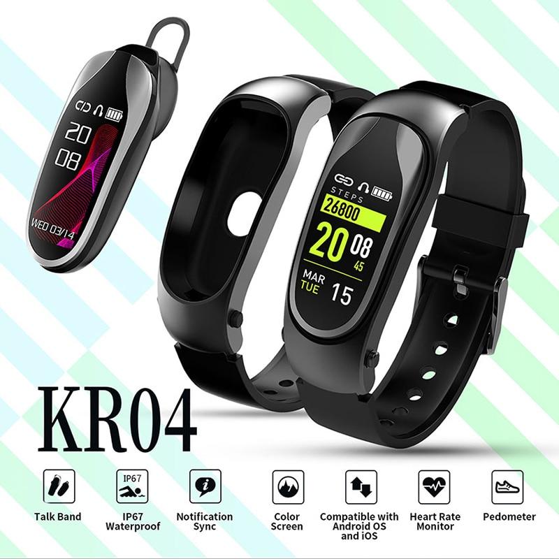 KR04 Intelligente Wristband inseguitore di Fitness Braccialetto IP67 Impermeabile bluetooth smartwatch di Messaggio del LED monitor di Frequenza Cardiaca braccialetto intelligenteKR04 Intelligente Wristband inseguitore di Fitness Braccialetto IP67 Impermeabile bluetooth smartwatch di Messaggio del LED monitor di Frequenza Cardiaca braccialetto intelligente