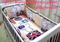 Desconto! 6 / 7 pcs bebê conjunto fundamento do bebê berço berço jogo de cama cunas berço Quilt Cover folha bumper, 120 * 60 / 120 * 70 cm
