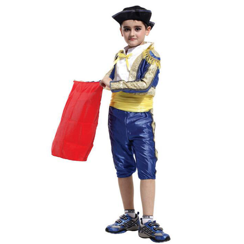 Brave Small Matador Cosplay Costumes For Boys Kids Childrens Party Stage Shows Clothing Handsome Coat+Tops+Trousers+Hat+Belt