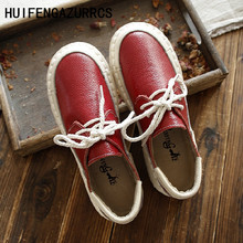 Free shipping,2017 new spring and autumn original Japanese RETRO art Genuine leather shoes lace round soft bottom leisure shoes new japanese original genuine switch ex 13b