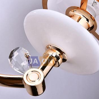 Led E14 Nordic Eisen Glas Kristall Rose Gold Weiß LED Lampe LED Licht Wand Lampe Wand Licht Wand Leuchte Für Schlafzimmer