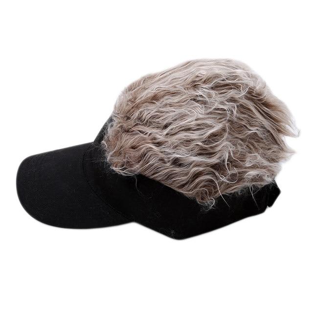 73f21d3b93da2 Online Shop Hot New Fashion Novelty Baseball Cap Fake Flair Hair Sun ...