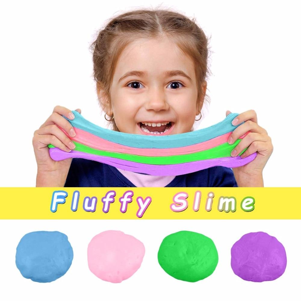 80ml Fluffy Slime Supplies Toys Putty Soft Clay Light Plasticine Playdough Lizun Slime Charms Gum Polymer