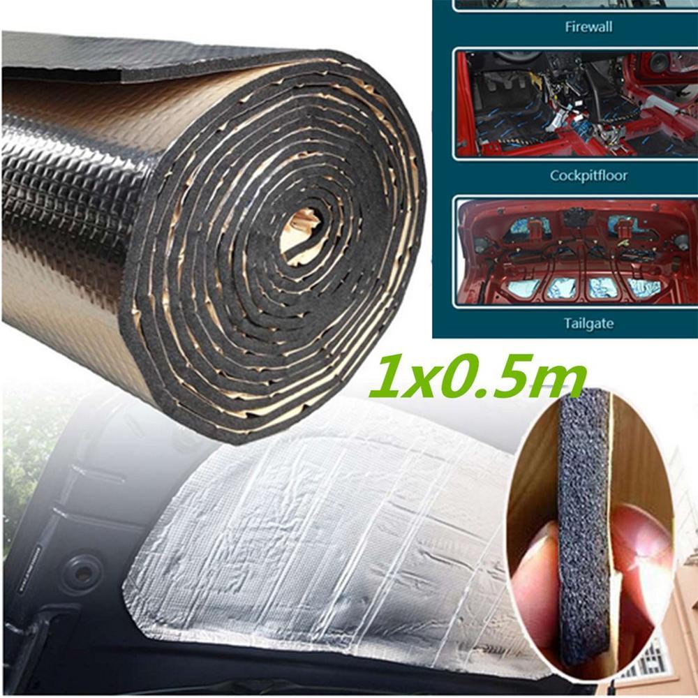 50x100cm Car Heat Shield Insulation Sound Deadener Mat Aluminum Foil Car Sound Deadener Insulation Acoustic Dampening Foam