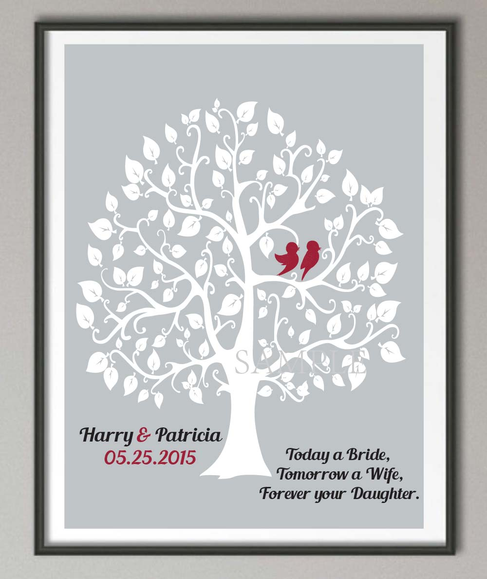 Hairy Parents Wedding Gift Family Tree Quote Wall Art Poster Prints Canvas Painting Home Decoration Easter Decor Painting Parents Wedding Gift Family Tree Quote Wall Art Poster Print wedding Wedding Gifts For Parents