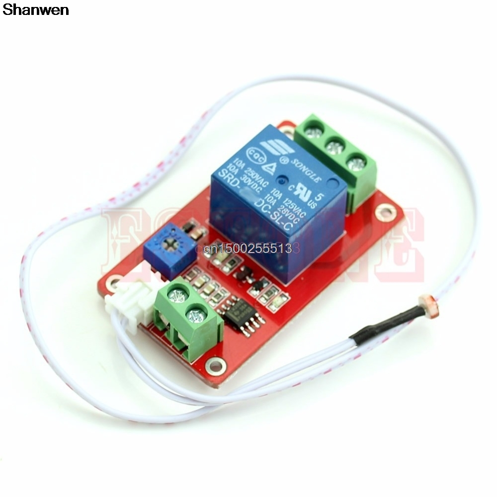 Switch Photoresistor Relay Module Light Detection Sensor 12V Car Light Control 1pcs current detection sensor module 50a ac short circuit protection dc5v relay