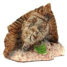 Ретро египетское украшение для аквариума, винтажные изделия из смолы для аквариума, декор для домашних животных, украшения для аквариума