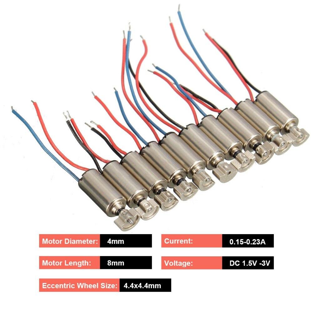 2PCS DC 1.5V-3V Strong Vibration Motor 7mm*15mm Micro Vibrator DIY Toy Massager
