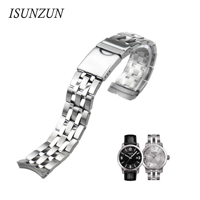 ФОТО ISUNZUN Top Quality Watch Band For Tissot  T055 Watch Strap PRC200T055.417 Steel Watch StrapT055.410 Fast Shipping