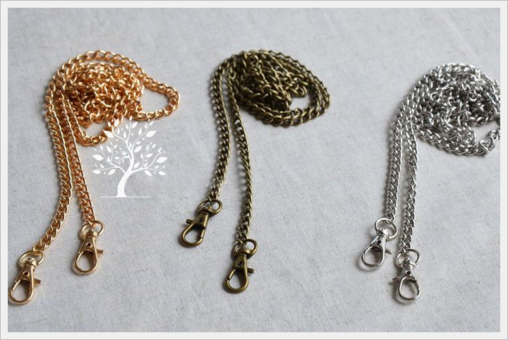 DIY Women Purse Metal Chain Strap Female Bag Hardware Accessories With Lobster Buckle Silver Golden Bronze Color 5pcs/lot