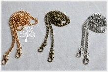 Diyの女性財布金属チェーンストラップ女性バッグハードウェアアクセサリー付きロブスターバックルシルバーゴールデンブロンズ色5ピース/ロット
