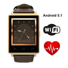 """No. 1 d6 uhr 1 gb ram 8g rom 3g smart watch unterstützung health monitor gps wifi mtk6580 quad core 1,63 """"bildschirm smartwatch Android"""