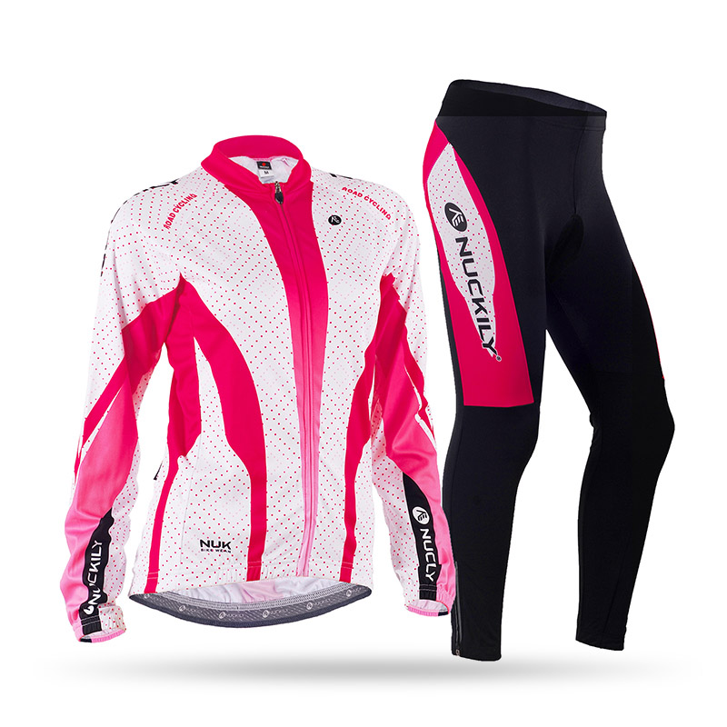 Winter womens Long sleeves Fleece Thermal Sublimation Cycling Jacket suit nuckily winter womens bike wear long sleeves fleece thermal sublimation велоспорт джерси костюм