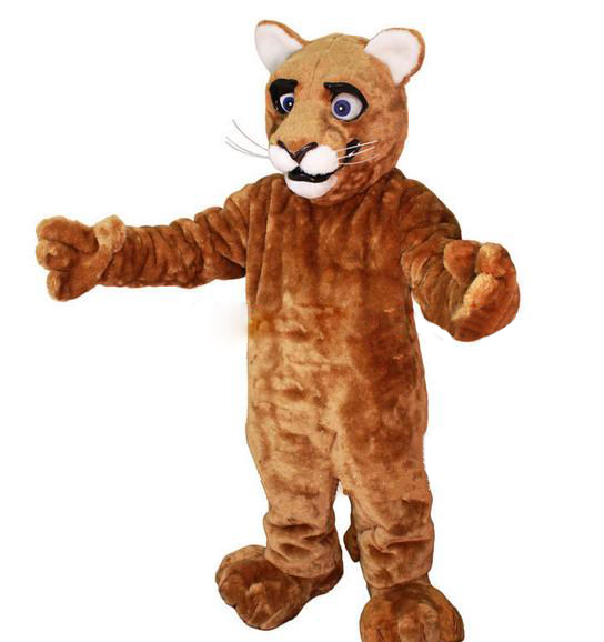 Little Leopard Panther Cat Cougar Cub Mascot Costume Adult Size Cartoon Character Mascotte Mascota Outfit Suit