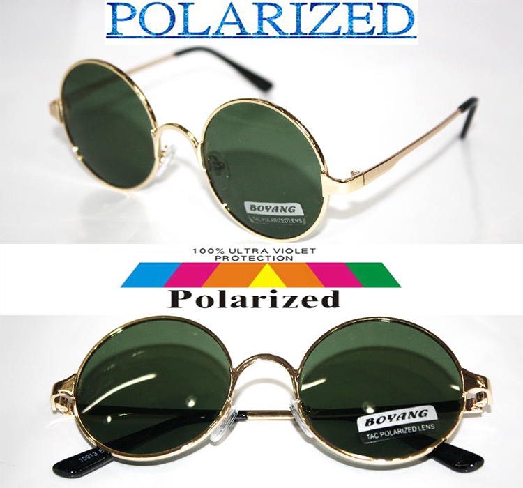 2017 Custom Made NEARSIGHTED MINUS PRESCRIPTION Round vintage gold Ozzy style POLARIZED SUNGLASSES 1 1.5 2 2.5 3 to 6.0