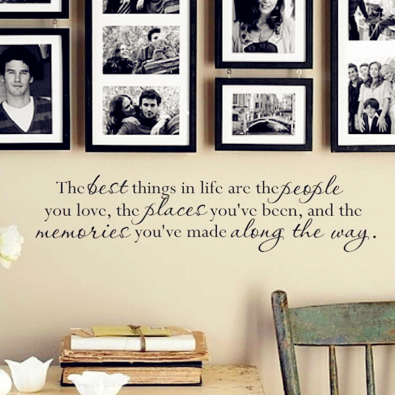 2016 New Hot - Quotes Wall Sticker - <font><b>Life</b></font> Is Too Short This Sentence Reminds Us To Always Cherish <font><b>Loved</b></font> <font><b>Ones</b></font> 3D Decal Home Decor