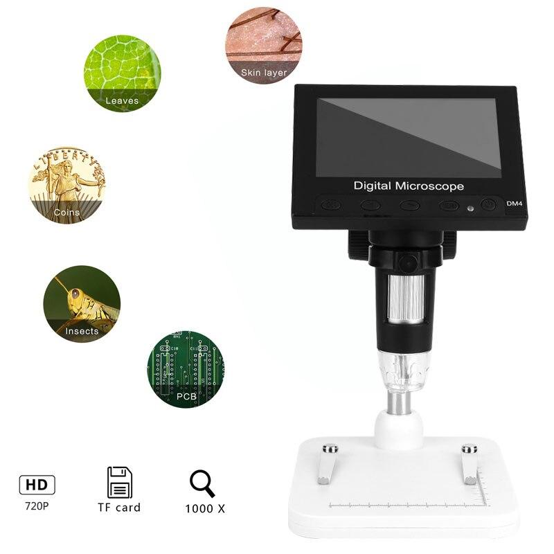 8LED 720P 1000x цифровой экран микроскоп водонепроницаемые мобильные телефоны видео микроскоп в режиме реального времени Инспекционная камера