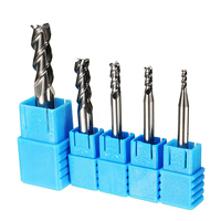 5pcs 3 Flute End Mill Set HRC50 Solid Carbide Milling Cutter 2 3 4 6 8mm