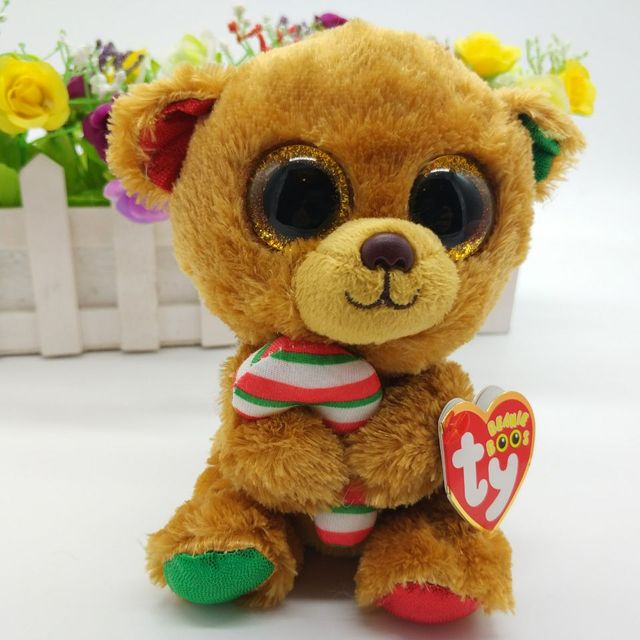 bella bear TY BEANIE BOOS 1PC 15CM BIG EYE Plush Toys Stuffed animals KIDS  TOYS VALENTINE GIFT soft toys cuddly Christmas 0658d3977107