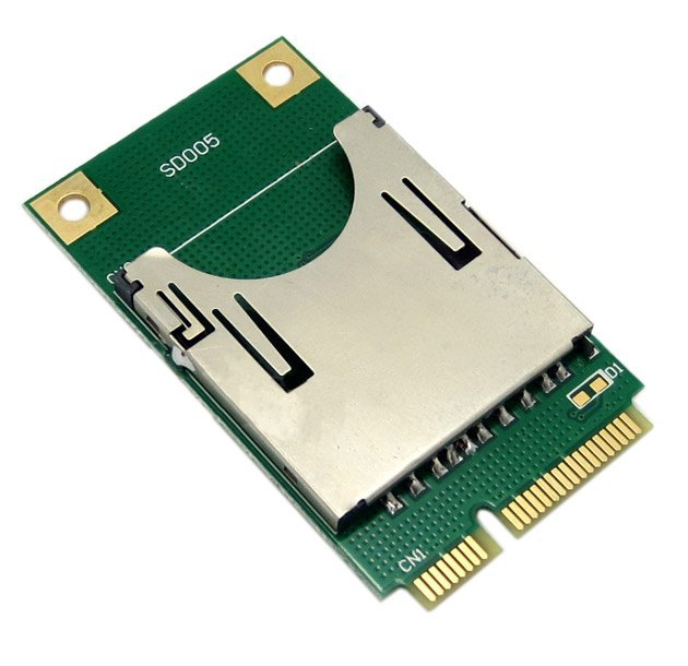 10pcs / lots Mini PCI E Express to SD SDHC MMC Memory Card Converter Reader ,By Fedex UPS DHL