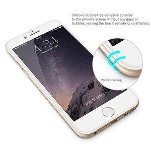 Image 5 - Verre coloré sur le pour iPhone 6 6S 7 8 protecteur décran Anti coup couverture complète verre de protection sur le pour iPhone 6 7 8 Plus