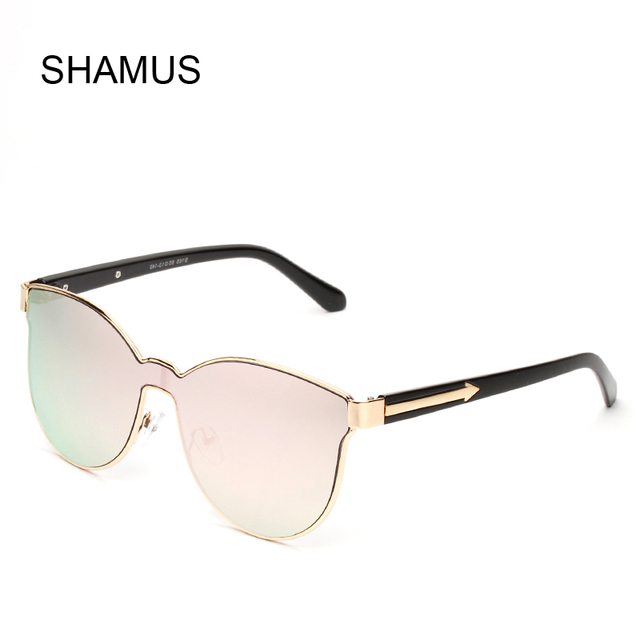 efa4ec6dbc3 SHAMUS One Piece Lens Super Fashion Glasses Novelty Sun Glasses Vogue  Eyeglasses 2017 Eyewear Brand Designer Lady Sunglasses