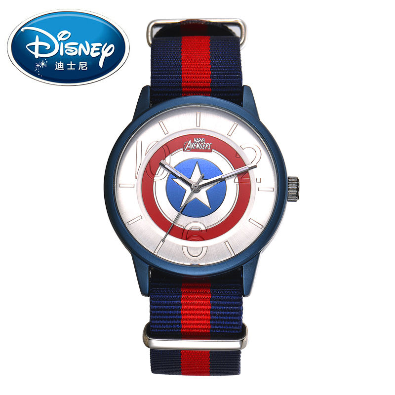 Disney Kids Watch Marvel Super Hero Fashion Simple Cool Wristwatches Boys Mickey Mouse Gift Waterproof for Men Clock 2015 new fashion boys girls silicone digital watch for kids mickey minnie cartoon watch for children christmas gift clock watch