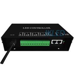 Controlador led artnet, 4 puertos, cada puerto tiene 4 controles universales de 680 píxeles, compatible con Madrix, resolme, Jinx,Xlights, Protocolo artnet