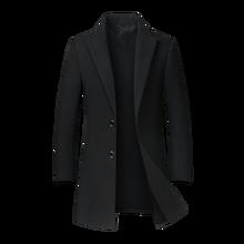Осень-зима шерстяная куртка-пальто Для мужчин; шерсть высокого качества облегающее пальто в повседневном стиле длинный плащ пальто кашемировое пальто для Peacoat