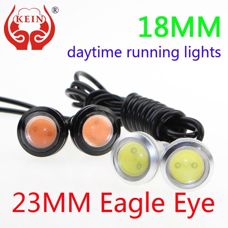 KEIN 2PCS 18mm23MM car LED Eagle Eye DRL font b daytime b font font b running