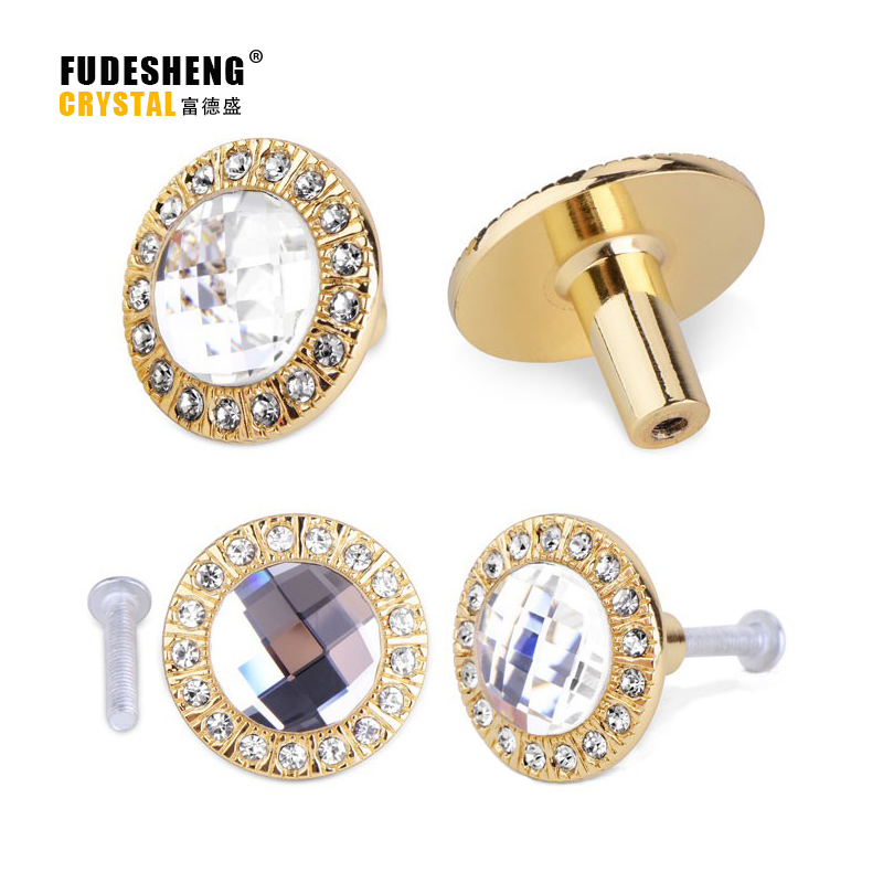 Gold Glass Dresser Pulls Drawer Pull Handles Crystal Kitchen Cabinet Door Handle Rhinestone Clear Modern Furniture Knobs SJ-5002 for triumph tiger 800 tiger 1050 tiger explorer 1200 easy pull clutch cable system