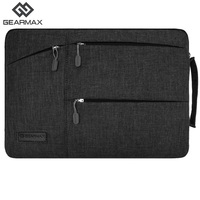 New Gearmax Laptop Sleeve Nylon Notebook Case Fashion Laptop Bag Men Women Black Gray Notebook Case